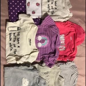 11 0-3 MONTH SHORT AND LONG SLEEVE ONESIES